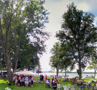View at the waterfront (Horseshoe tournament - panorama)